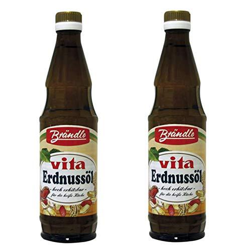 Aceite de cacahuete para cocinar 500ml - pack de 2 botellas