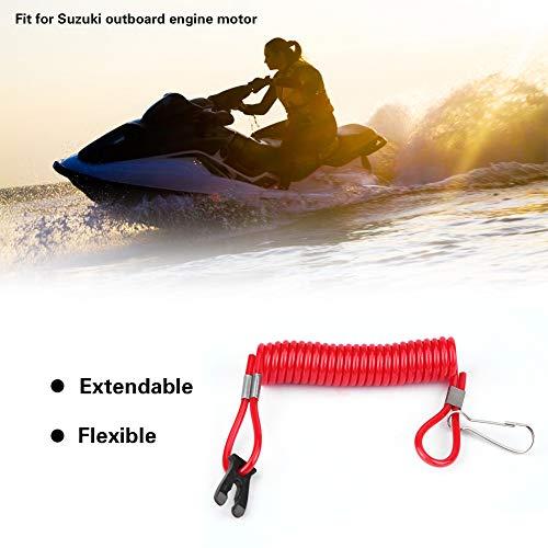 Cordón de interruptor de parada de motor ligero de plástico ABS impermeable, cable de seguridad de interruptor de emergencia, rojo para Suzuki