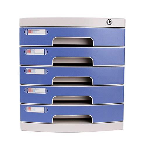 ROGF Aktenschränke Datei-Speicherschrank mit Lock-Desk Locker Büro 5th Floor für Büro (Color : Blue, Size : 39X29X31.5cm)