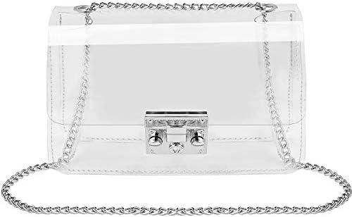 Clear Crossbody Purse Bag Shoulder Handbag pouch NFL Stadium Concert Venues Approved Clear Bag product image