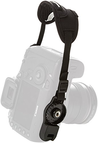 AmazonBasics Padded Camera Hand Strap - 5.3 x 2 x 1 Inches, Black