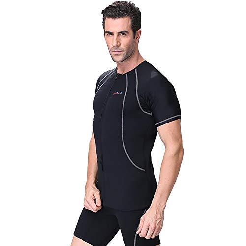 ZWPY Hombre Shorty - Traje de Baño Térmico de Neopreno 1.5Mm Hombre Calidad - para Deportes Acuáticos, Buceo, Surf, Snorkel y Natación,XS