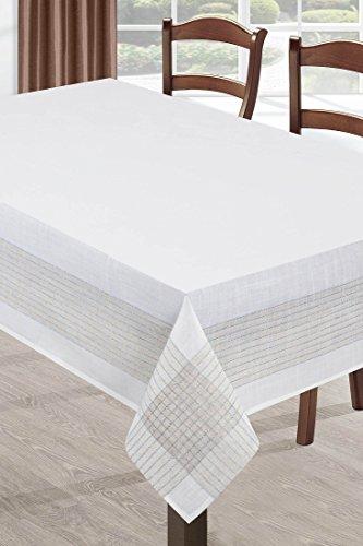 DecoKing zilver crème tafelkleed tafelkleed ornamenten vorm onderhoudsvriendelijk praktisch elegant exclusief zilver