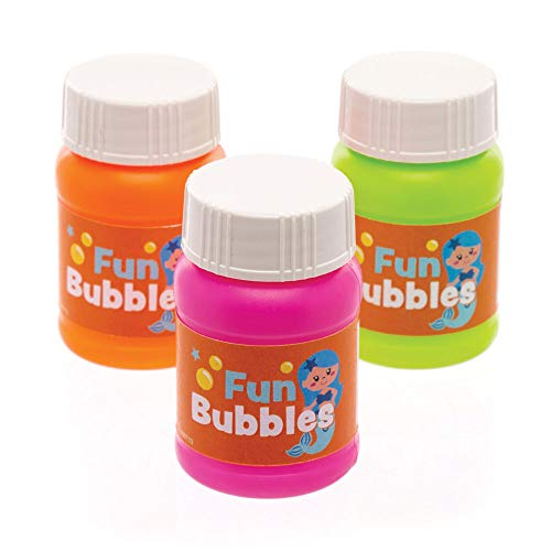 Baker Ross- Botes de pompas de jabón de sirenas mágicas (Pack de 8) para bolsas sorpresa y como idea de regalo infantil