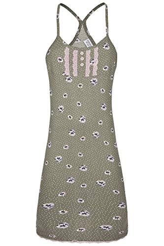 Ringella Lingerie Damen Nachthemd mit Spaghettiträgern salvia 38 0261001, salvia, 38