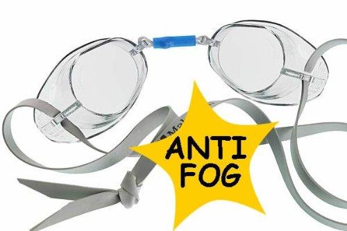 malmsten Schwedenbrille Antibeschlag Schwimmbrille, Weiß, One Size