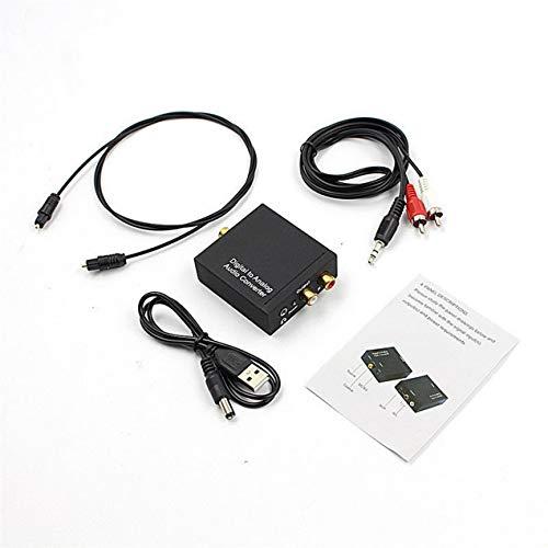 DBSUFV Convertidor de Audio Toslink óptico a analógico L/R RCA coaxial Digital...
