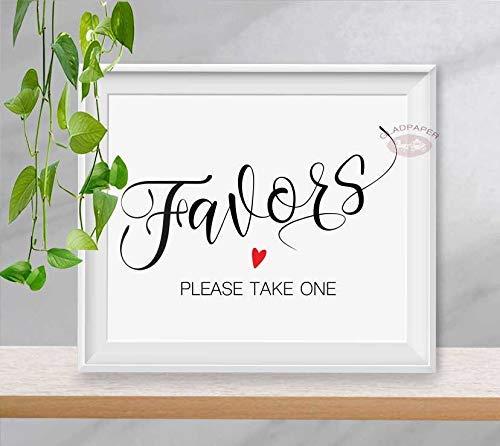Wedding Signs Please Take One Wedding Sign Please Take One Favors Sign Wedding Signage Please Take One Wedding Favor Sign