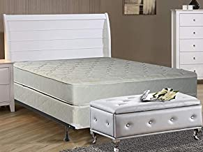 Elegant Collection Innerspring Mattress with Box Spring with Frame Foundation, Twin