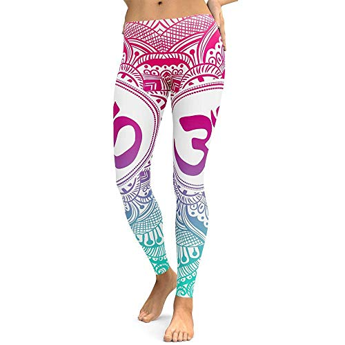 WUQATE Pantalones de Yoga Mujeres de Cintura Alta Yoga Fitness Leggings Push Up Medias Gym Ejercicio Running Gym Stretch Pantalones Deportivos Medias Slim Athletic Pantalones
