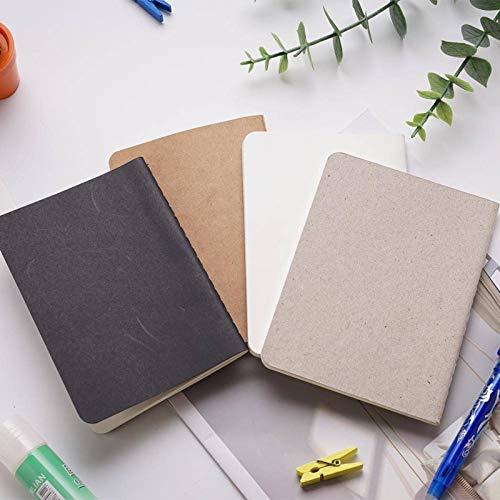 N-B Cuaderno de dibujo en blanco Diario Diario de la escuela, libro de estudiante de regalo, diario de oficina, papelería, color moderno mini