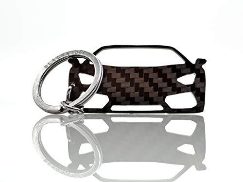 BlackStuff Llavero De Fibra De Carbono Cadena De Claves Compatible con Aventador BS-754