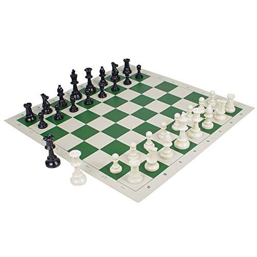 フェリモア チェスセット チェス駒 チェス盤 チェスマット 国際公式サイズ スタントンスタイル 競技 (ホワイト×グリーン)