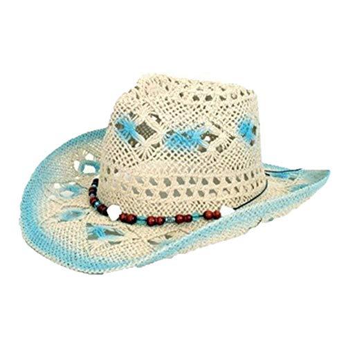 Hoed - Blauw / wit - Cowboyhoed - Model Ibiza