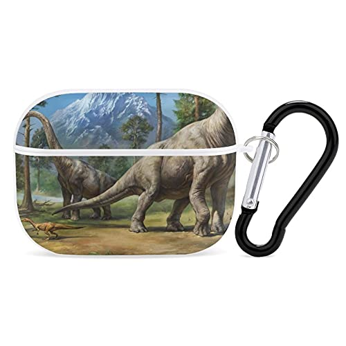 SWEET TANG Cover Compatible with AirPods Case, Rugged Protective Covers Skin for Women Girls Men Boys Airpod 3 with Keychain, Brachiosaurus Dinosaurs