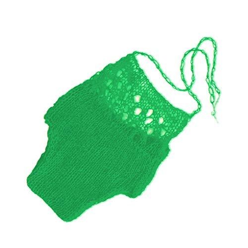 Floridivy Hand gehaakt wol gebreide Bikini Style pasgeboren baby Photo Ademende baby kleding, handgemaakte ademend Outfits voor Giften