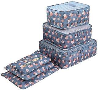 6PCS/Set Oxford Cloth Travel Mesh Bag Luggage Organizer Packing Cube