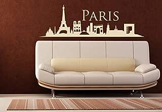 Home Decor-Paris Skyline Decal Paris Skyline Stencil Paris Skyline Wall Decal Paris Skyline Wall Sticker