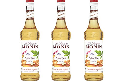 Monin Sirup Praline Nuss, 0,7L, 3er Pack