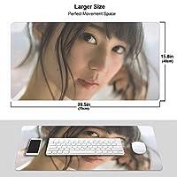 西野七瀬 マウスパッド 光学マウス対応 パソコン 周辺機器 超大型 防水 洗える 滑り止め 高級感 耐久性が良い 40*75cm