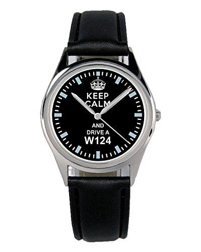 Geschenk für W124 Mercedes Oldtimer Fans Fahrer Kiesenberg Uhr B-1498