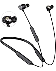 SoundPEATS Bluetooth Headphones Wireless cVc Noise Cancellation/ 22 Hours Playtime/APTX HD Audio Headset Sports Earphones with Dual Dynamic Drivers for Exercise, Workout, Gym