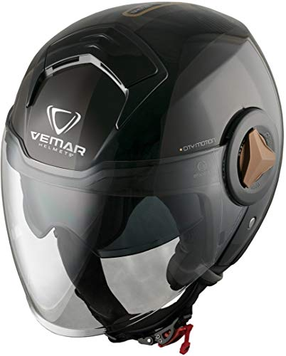 Vemar Breeze Radar Casco Jet Nero/Oro