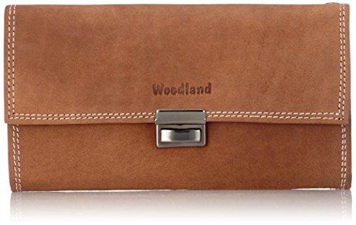 Woodland® Kellnerbörse mit verstärktem Boden im großen Hartgeldfach aus naturbelassenem Rindsleder in Cognac/Vintage