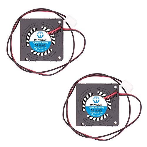 WINSINN Ventilador de ventilador de 30 mm, 5 V 3007, rodamientos hidráulicos, turbina de 30 x 7 mm, alta velocidad (paquete de 2 unidades)