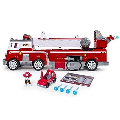 Spin Master Paw Patrol Ultimate Rescue Fire Truck vehículo de Juguete - Vehículos de Juguete (Negro, Rojo, Blanco, Camión, 3 año(s), Niño, China, AAA) de Spin Master