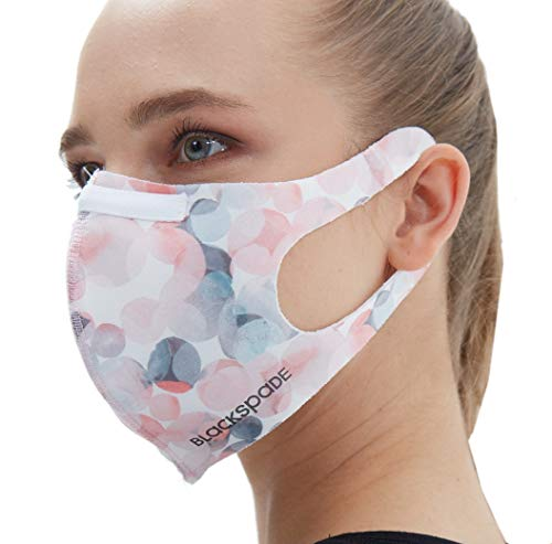 Unisex Reusable Face Covering with Nose Wire | Protective Face Covers Washable at 60 Degrees | 7 Available Colours (Small, Pink/Grey)
