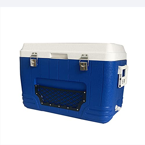 Caja De Enfriamiento con Dos Asas De 52 litros, Caja De Hielo con Aislamiento, Fácil De Transportar, Diseño para Mantener El Calor Y El Frío Disponible para Picnic, Viajes, Camping