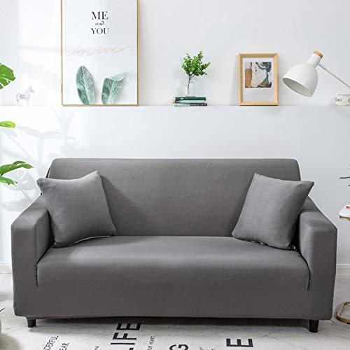 WXQY Fundas Antideslizantes elásticas de Color sólido Funda de sofá Antideslizante para Mascotas Funda de sofá para Mascotas Esquina en Forma de L Funda de sofá Antideslizante A23 2 plazas