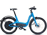 Elby Bike 9 Speed Electric Bike, Blue, 16.5'/One Size