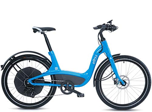 "Elby Bike 9 Speed Electric Bike, Blue, 16.5""/One Size"