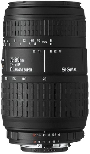Sigma 70-300mm F4-5.6 DL Macro Super Lens for Nikon-AF Camera