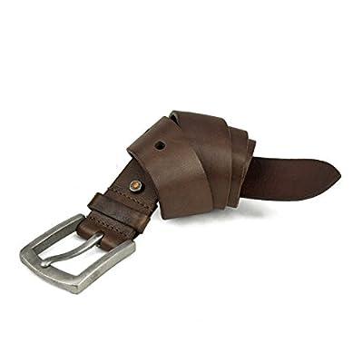 Timberland PRO Men's 40mm Workwear Leather Belt, Brown/Rivet, 36