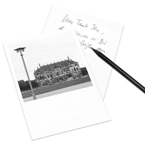 COGNOSCO Postkarte Dresden im Polaroid-Look - Motiv: Palais im Großen Garten