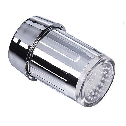 SHABEI LED Wasserhahn Temperatur,Glow Wasser Stream Mini Wasser Powered Temperatur Sensor 3 Farben ändern LED Wasserhahn Licht - 5