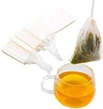 Tinkee Tea Filter bags, safe and natural material, disposable tea infuser, empty tea bag with drawstring for loose leaf tea, set of 100?3.15 x 3.94 inch ? (White)