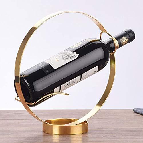 BFDMY Tenedor De Botella Decorativo para Montaje En Pared, Estantería De Vino Vertical De Encimera, Vino De Botella De Vino para Sala De Estar O Cocina,Oro