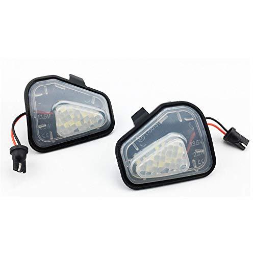 Lot de 2 éclairages LED pour rétroviseur extérieur Blanc (7417)
