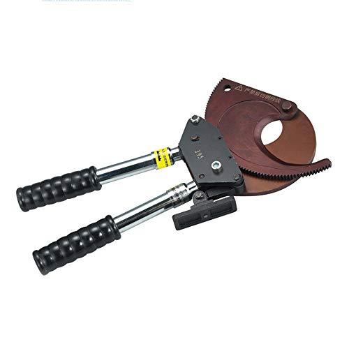 Kwent Alicates Electricista Manual de cortadores de Cable de trinquete Cortadora de Alambre Asa telescópica Maquina Pelacables Cobre