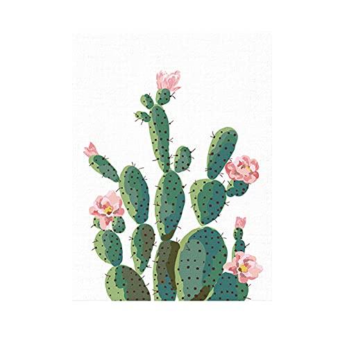 SANWOOD Pintura artística de pared, pintura de lienzo con impresión de cuadros, plantas verdes, cactus decorativas, decoración del sofá, fondo del hogar, 21 cm x 30 cm
