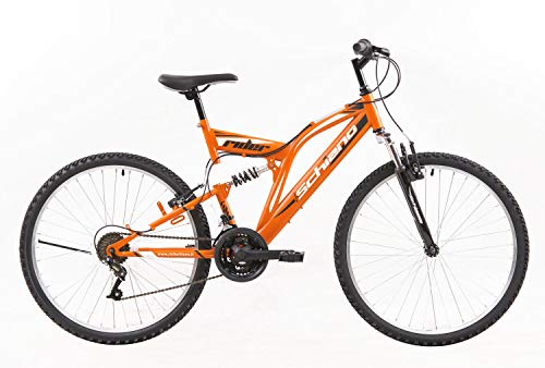 Schiano Rider VTT 26' tout-suspendu 18 vitesses, orange