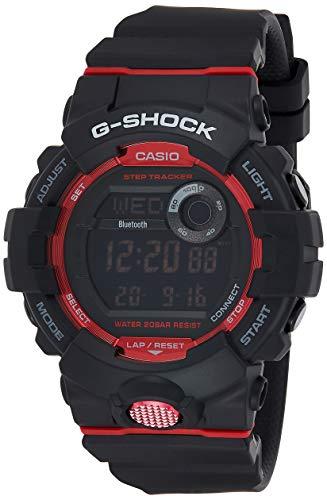 Casio Reloj Digital para Hombre de Cuarzo con Correa en Resina GBD-800-1ER, Negro/Rojo