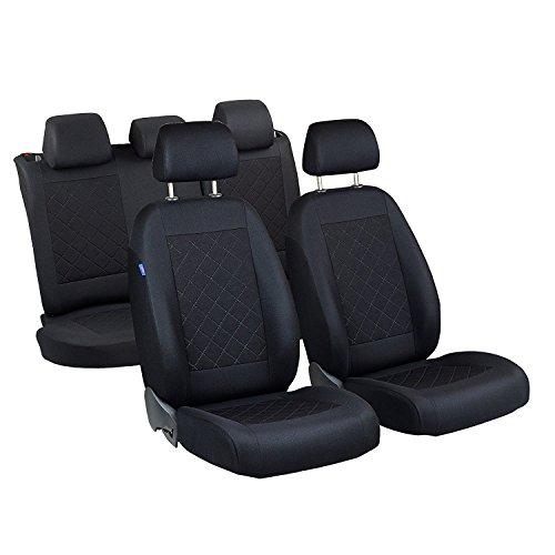 A2 Sitzbezüge - 1 Set - Farbe Schwarz gepresstes Karomuster