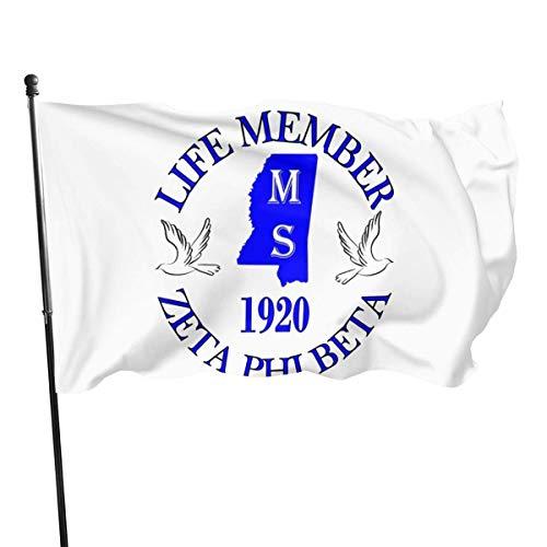 MaoMaoYongHui Zeta Phi Beta Flag 3x5 Ft