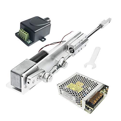 24 V, DC Elektromotor DIY Linearantrieb Hubmotor 30/50/70 mm mit Schaltleistung und 110 V-240 V + PWM Geschwindigkeitsregler für Auto-Hebebühnen, 12 Volt, 4 U/min