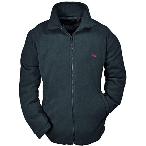 Brigg Herren Windbreaker Fleece Jacke XXXXL-10XL, Schwarz, 5XL